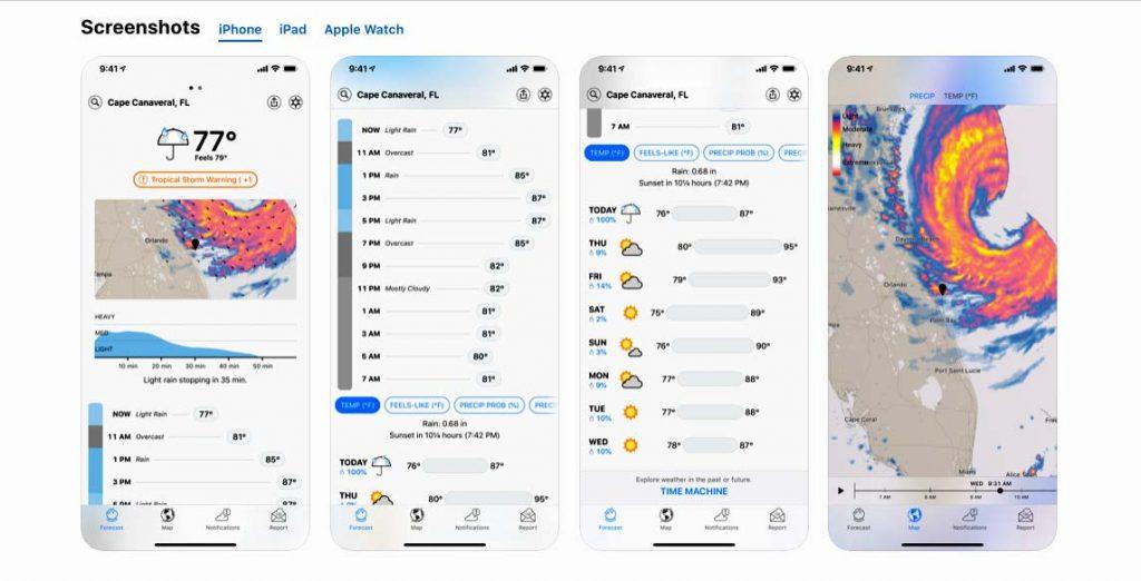 Apple kúpilo aplikáciu, ktorá predpovedá počasie.