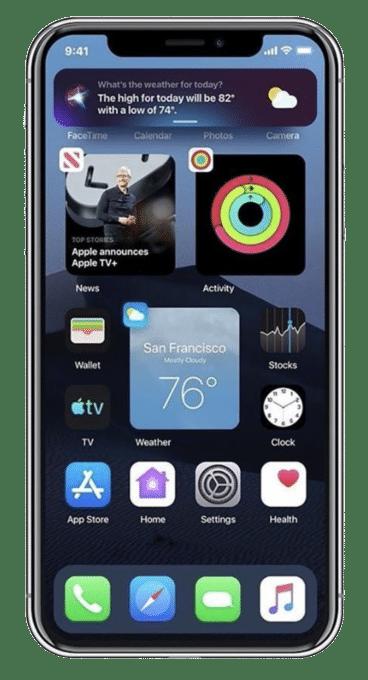 iOS 14 môže prísť s Widgetmi na domovskej obrazovke medzi aplikáciami!