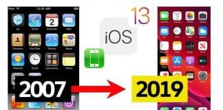 OD iOS 1 po iOS 13.