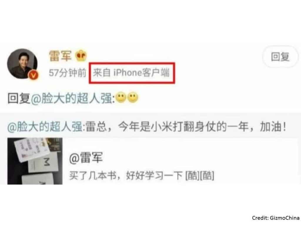 Šéf Xiaomi používa iPhone. Prezradili ho sociálne siete.