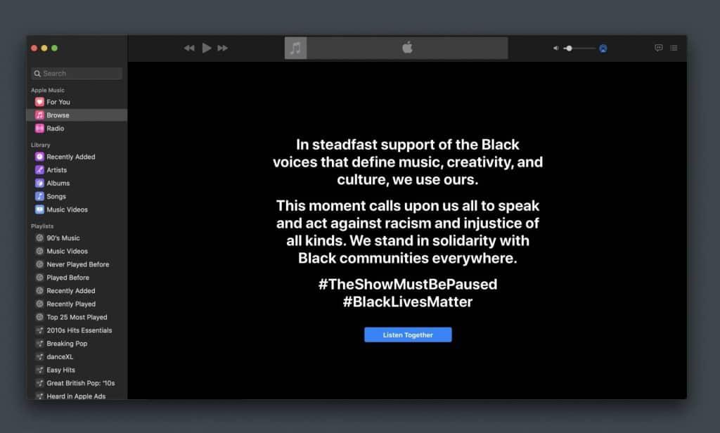 Apple taktiež reaguje na situáciu v USA. Pripojilo sa k iniciatíve Blackout Tuesday!