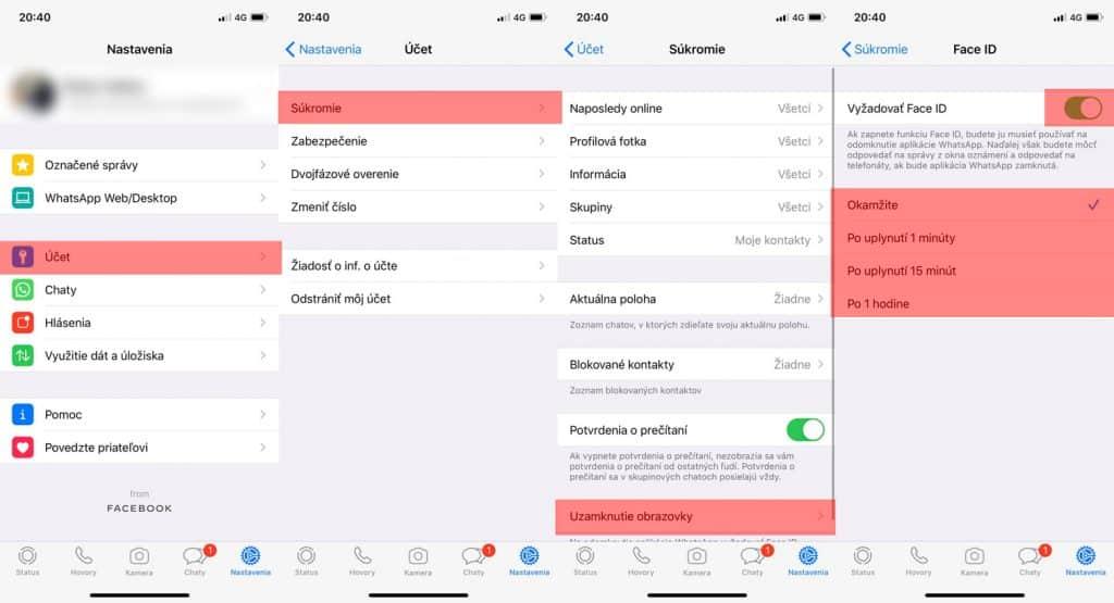 Návod: Ako zabezpečiť WhatsApp pomocou Face ID/Touch ID?