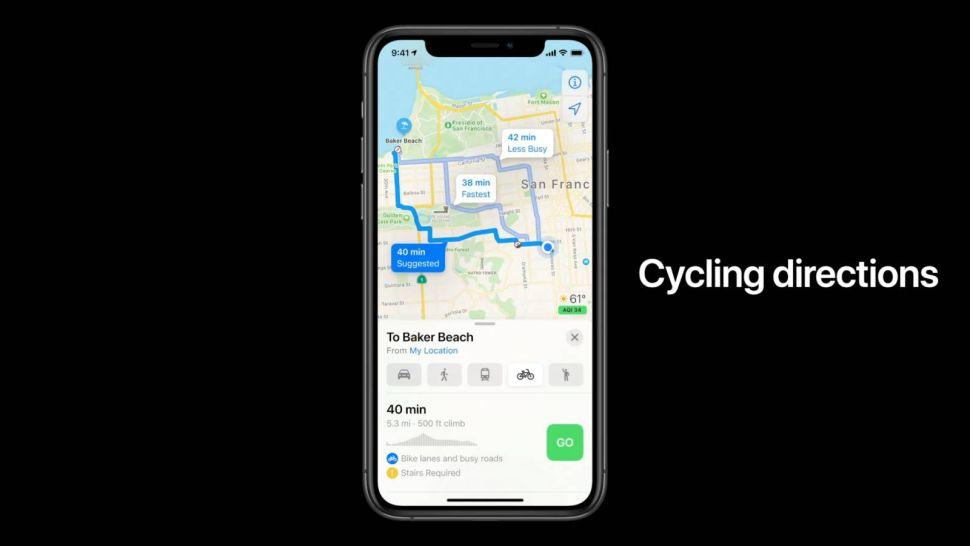 iOS 14 mapy