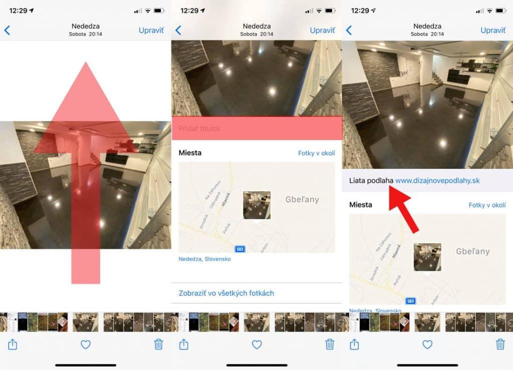 iOS 14: Ku fotografiám môžete pridať popisky.
