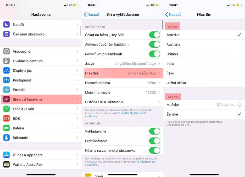 Návod: Ako zmeniť pohlavie a prízvuk Siri?