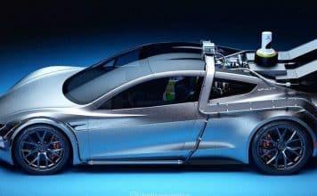 Takto vyzerá Tesla Roadster zrýchľujúca z 0-100 km/h za 1,1 sekundy.