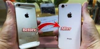 Chlapík prerobil rozbitý iPhone 6 na iPhone 8. Pozrite si postup a tiež výsledok.