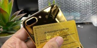 Rozbitý iPhone 7 Plus prerobil do zlatého tela. Pozrite si výsledok!