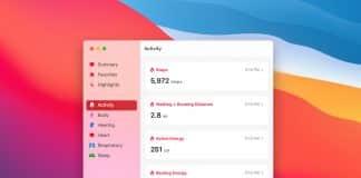 Takto by mohla vyzerať aplikácia zdravie v macOS Big Sur!