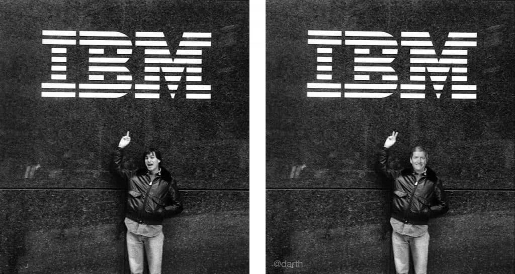 Tim Cook pracoval pre IBM
