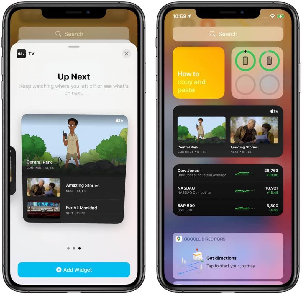 iOS 14 Apple TV widget