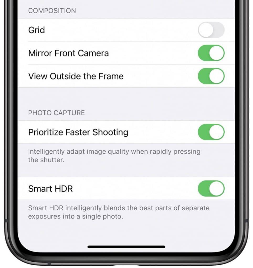 Selfie zrkadlenie iOS 14