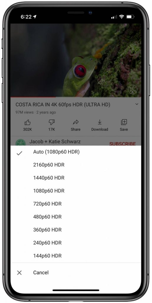 4K video iOS 14