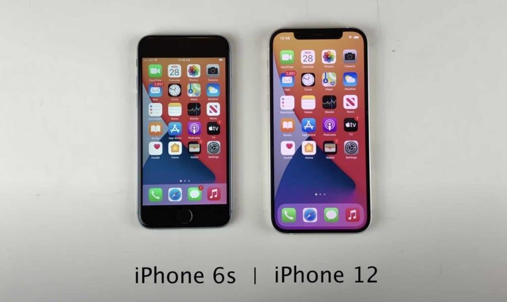 iPhone 12 vs iPhone 6S s iOS 14://svetapple.sk/novinky/apple-zaplati-113-milionov-dolarov-za-spomalovanie-starsich-iphonov/