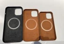 iPhone 12 a uniknuté kožené púzdra
