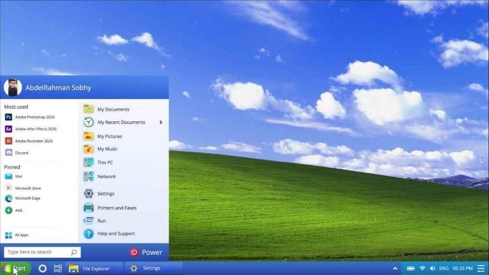 Ako by vyzeral Windows XP v roku 2021