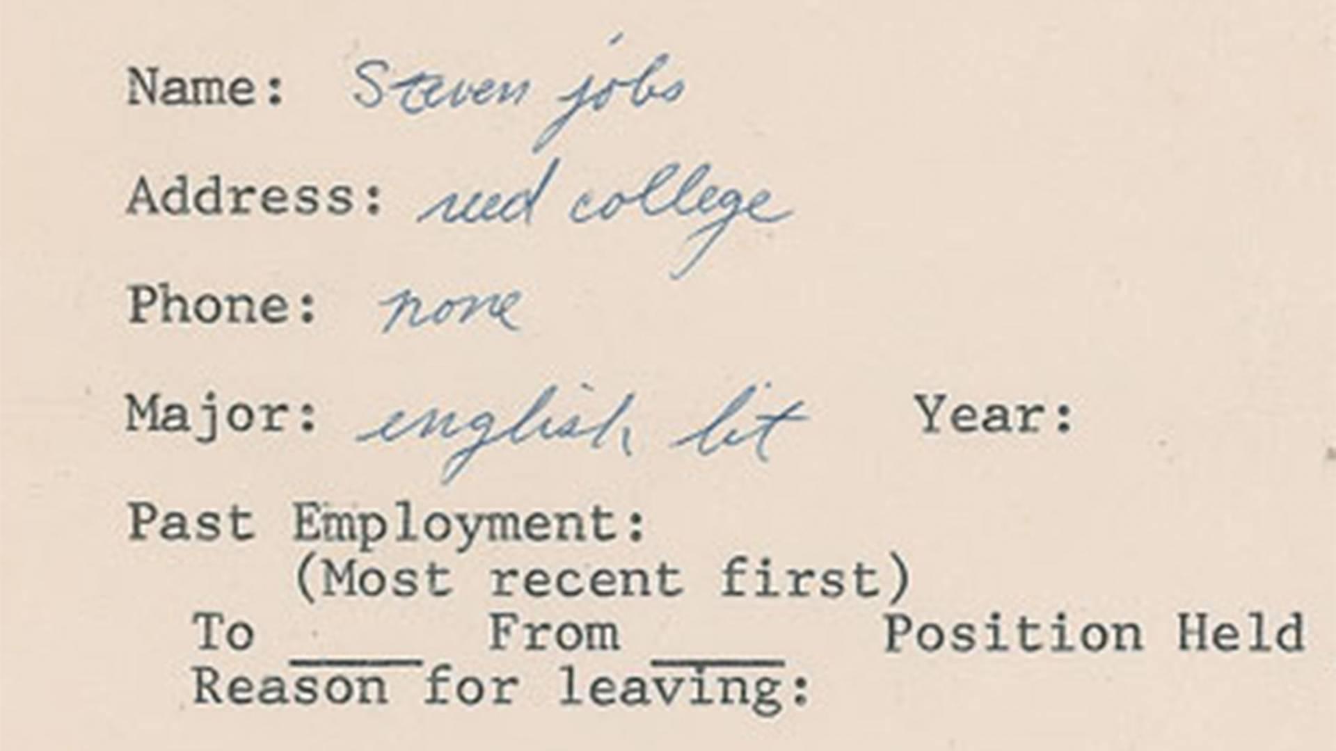 Do dražby putuje dotazník, ktorý vyplnil aj Steve Jobs