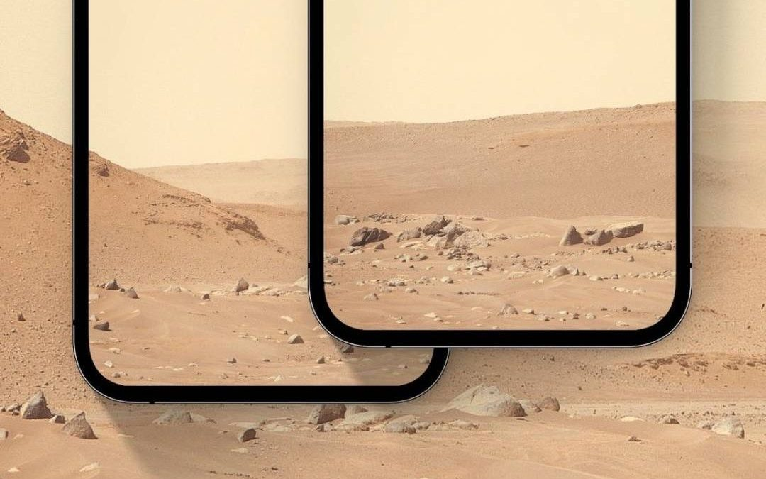 Stiahnite si na iPhone pozadie priamo z Marsu!