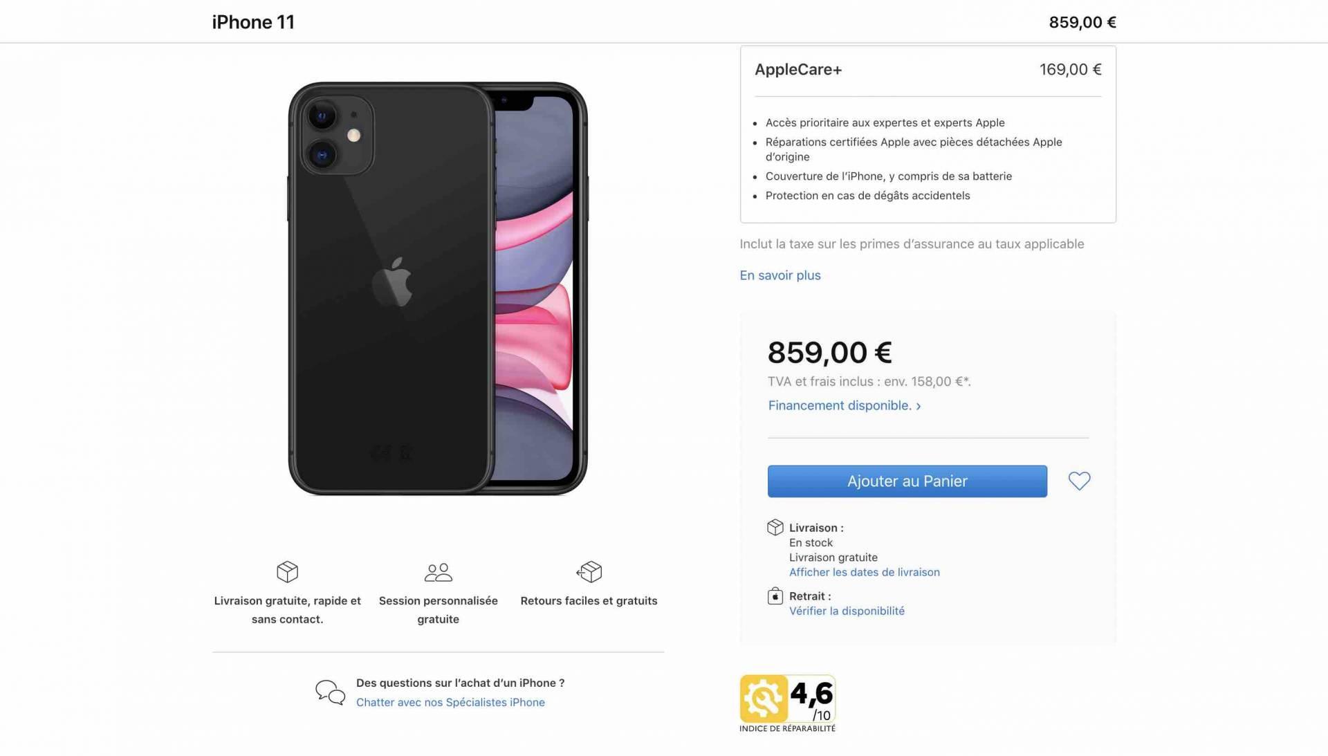 Apple vo Francúzsku uvádza skóre opraviteľnosti svojich produktov