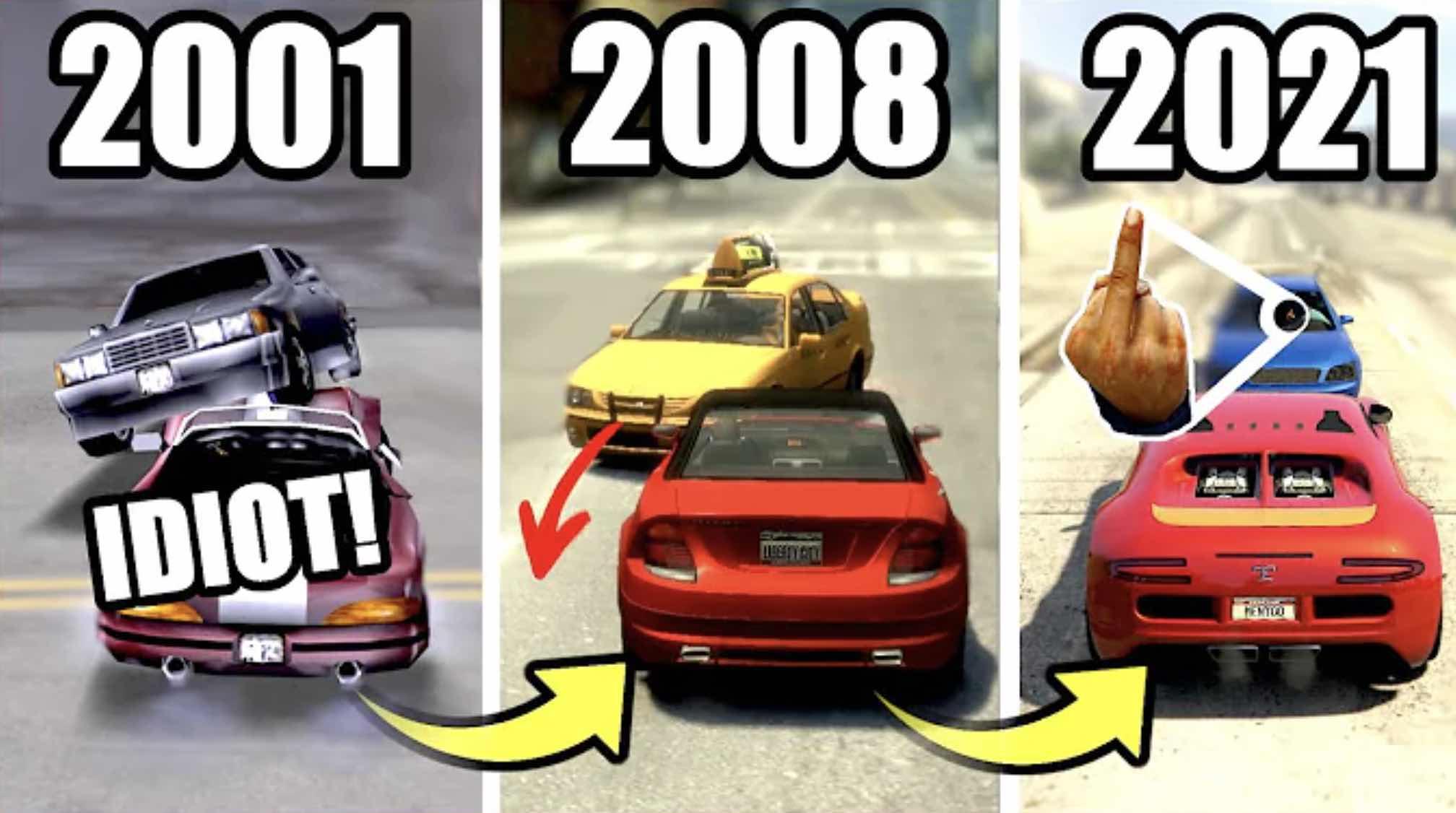 ako sa vyvíjali šoféri v GTA
