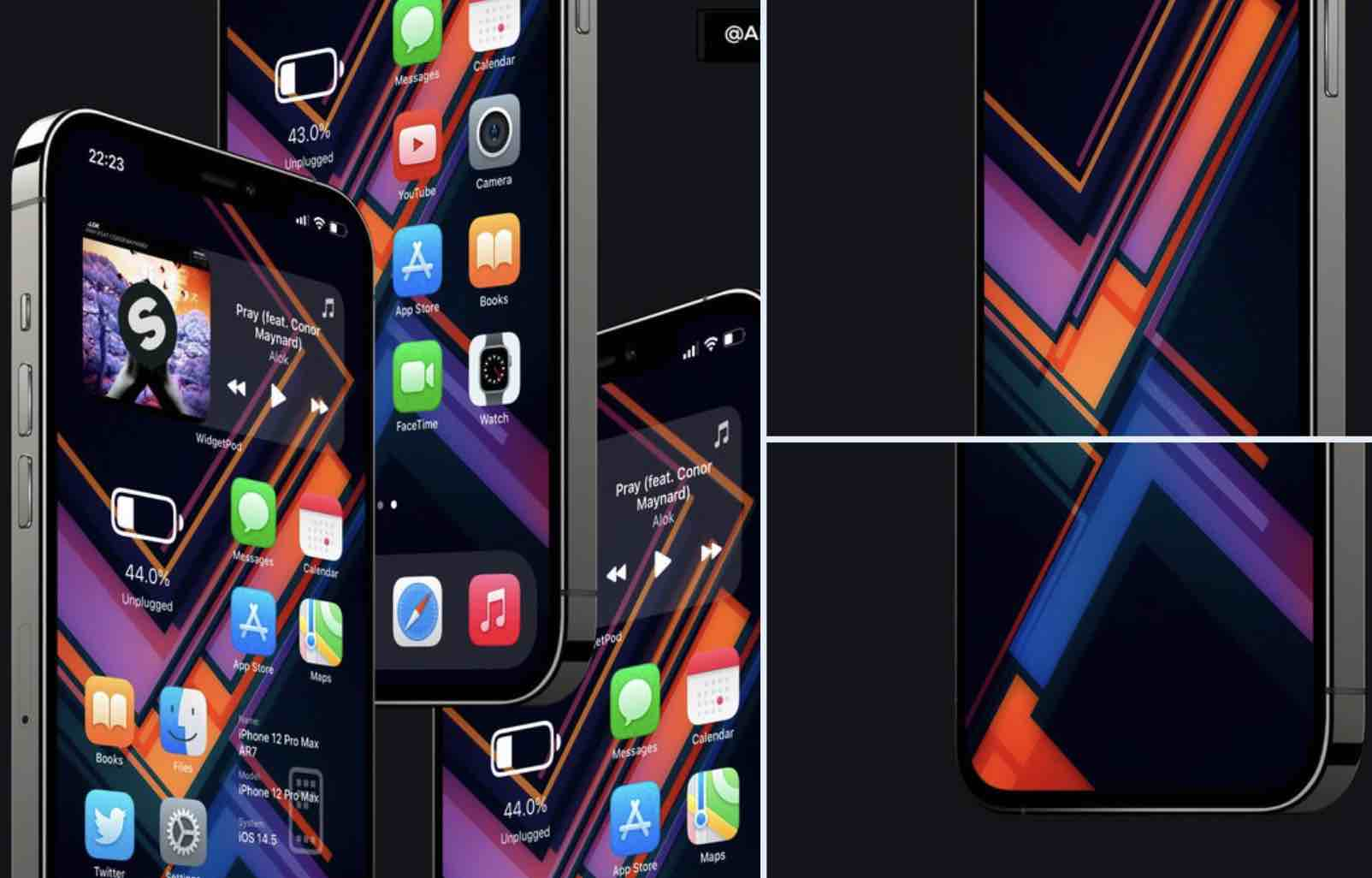 Stiahnite si nové farebné geometrické pozadie na váš iPhone