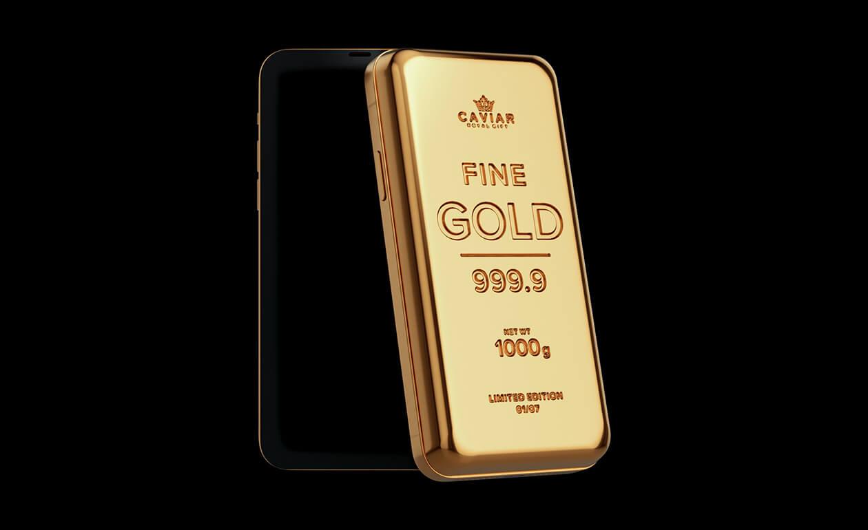 Kocka zlata, z ktorej môžete telefonovať