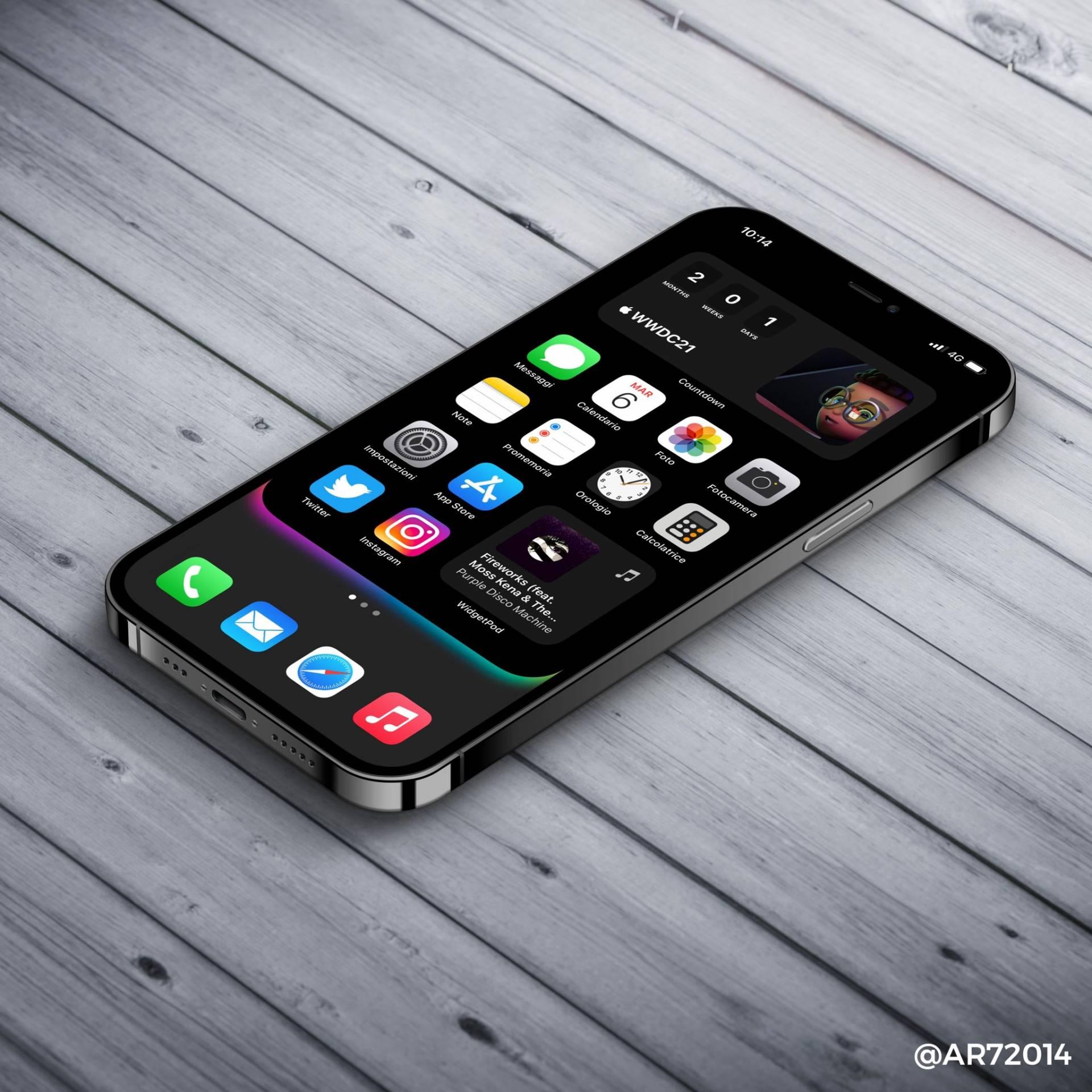 V jednoduchosti je krása a s týmto pozadím na iPhone to platí dvojnásobne