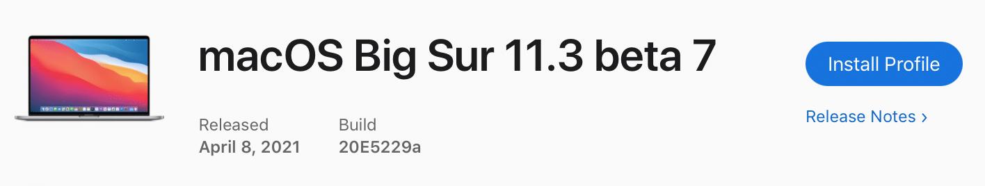 Apple vydalo siedmu beta verziu macOS Big Sur 11.3. Pozrite sa, čo všetko je nové!