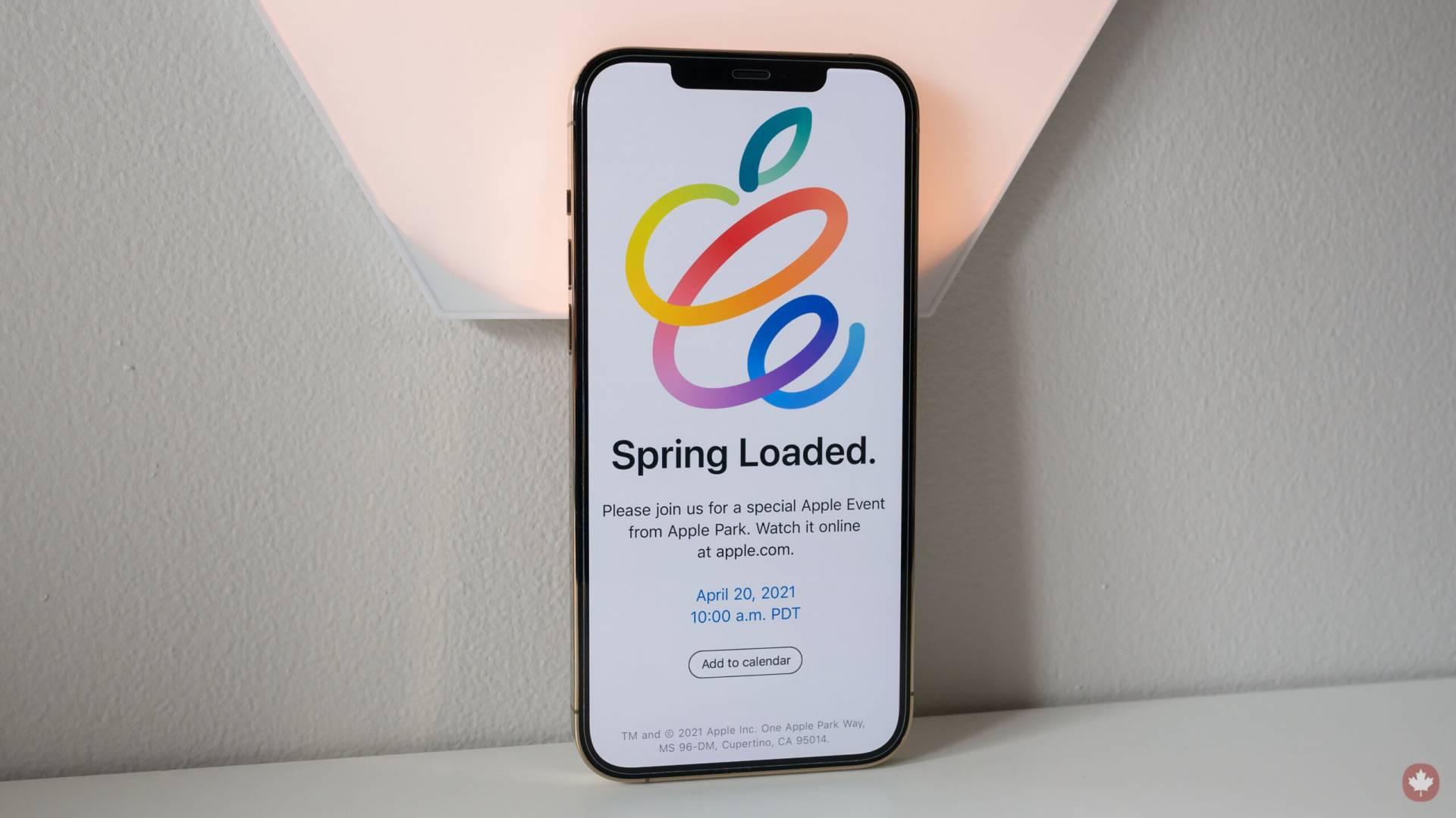 Pridajte si Apple Event Spring Loaded jedným klikom do kalendára