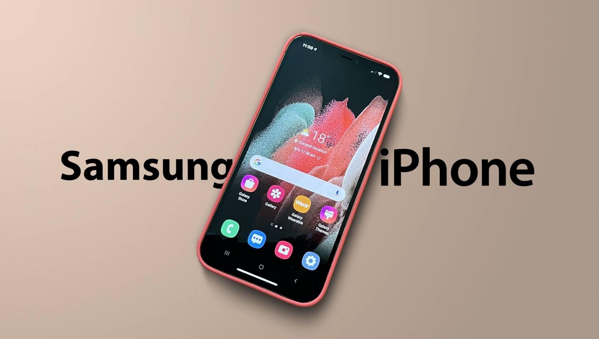 Vyskúšajte si Samsung na svojom iPhone