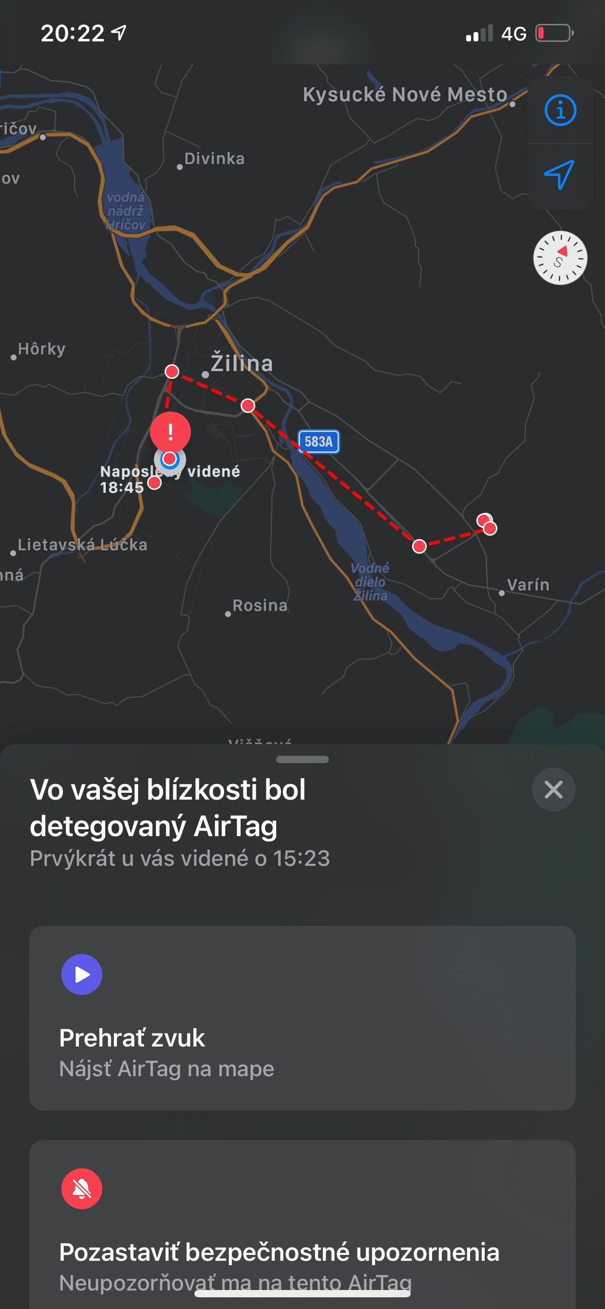 Sledovanie AirTag - svetapple.sk