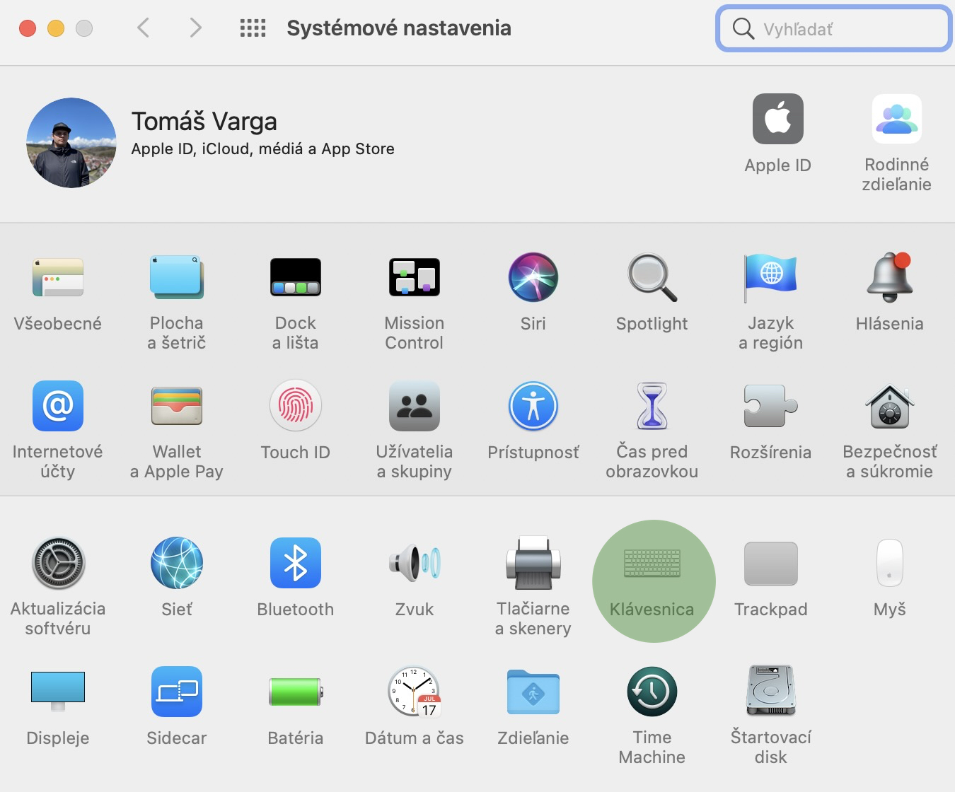 skratky 1 macOS