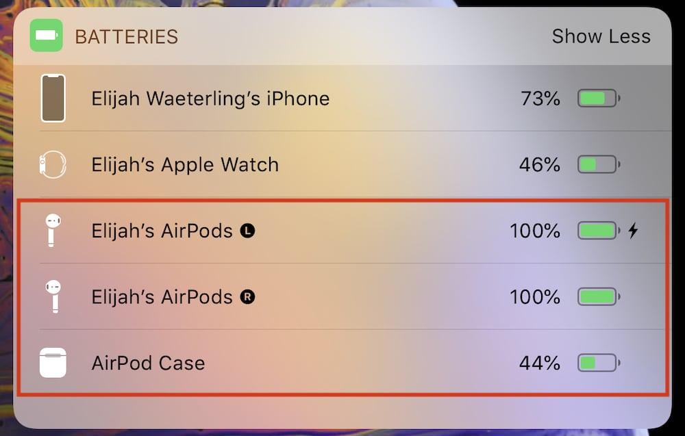 AirPods batéria