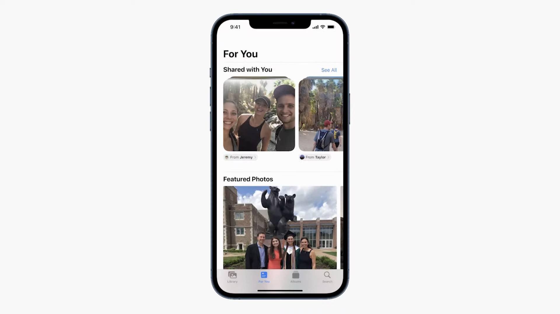 Aplikácia fotky umožňuje zobraziť obrázky nazdieľané vašimi známymi cez iMessage WWDC 2021