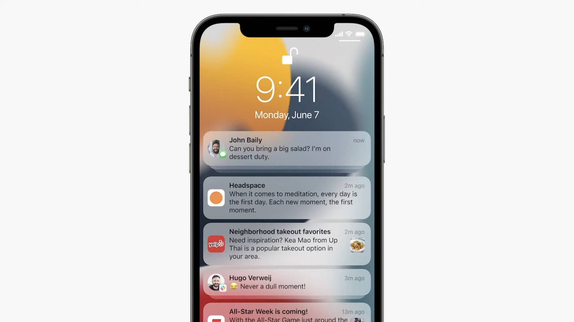 Novinky v centre notifikácii iOS 15 - WWDC 2021