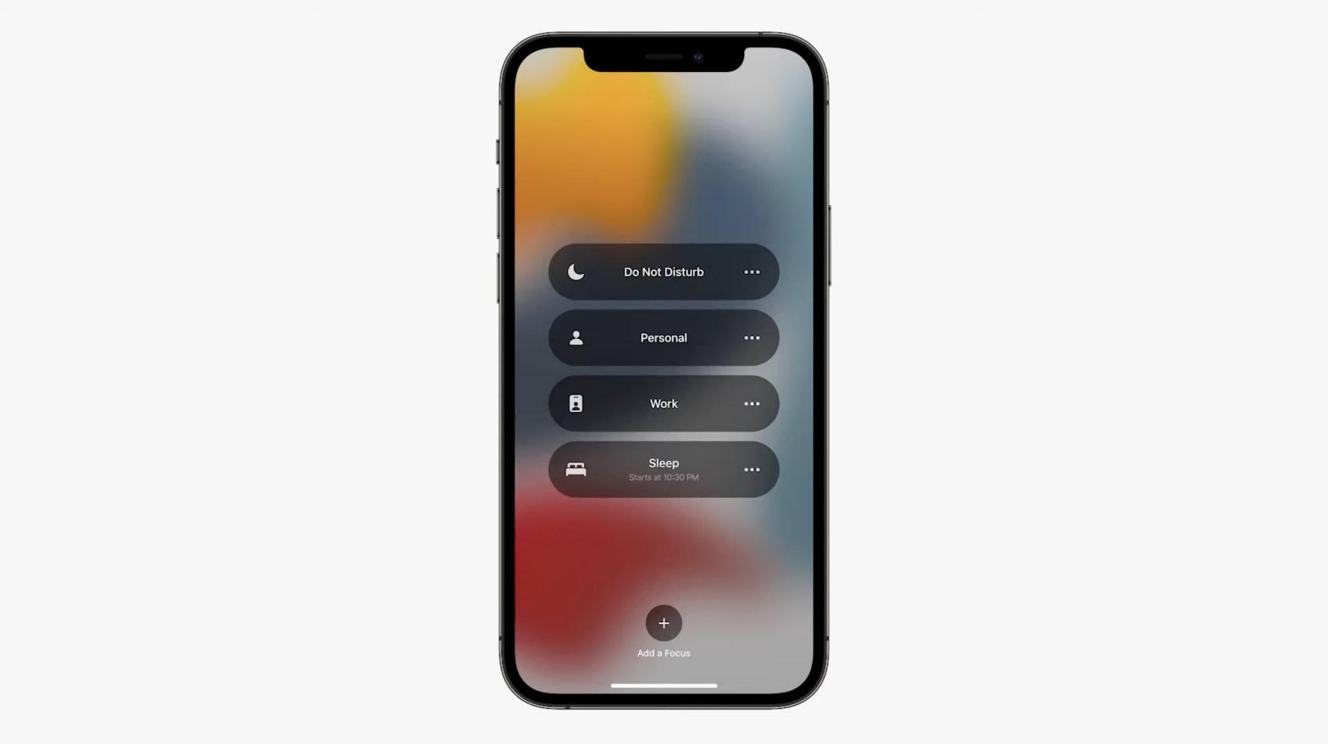 Focus - nové módy iOS zariadenia podľa aktuálnej aktivity - WWDC 2021