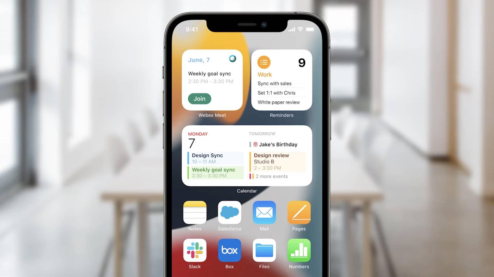 iOS 15 nové widgety - WWDC 2021
