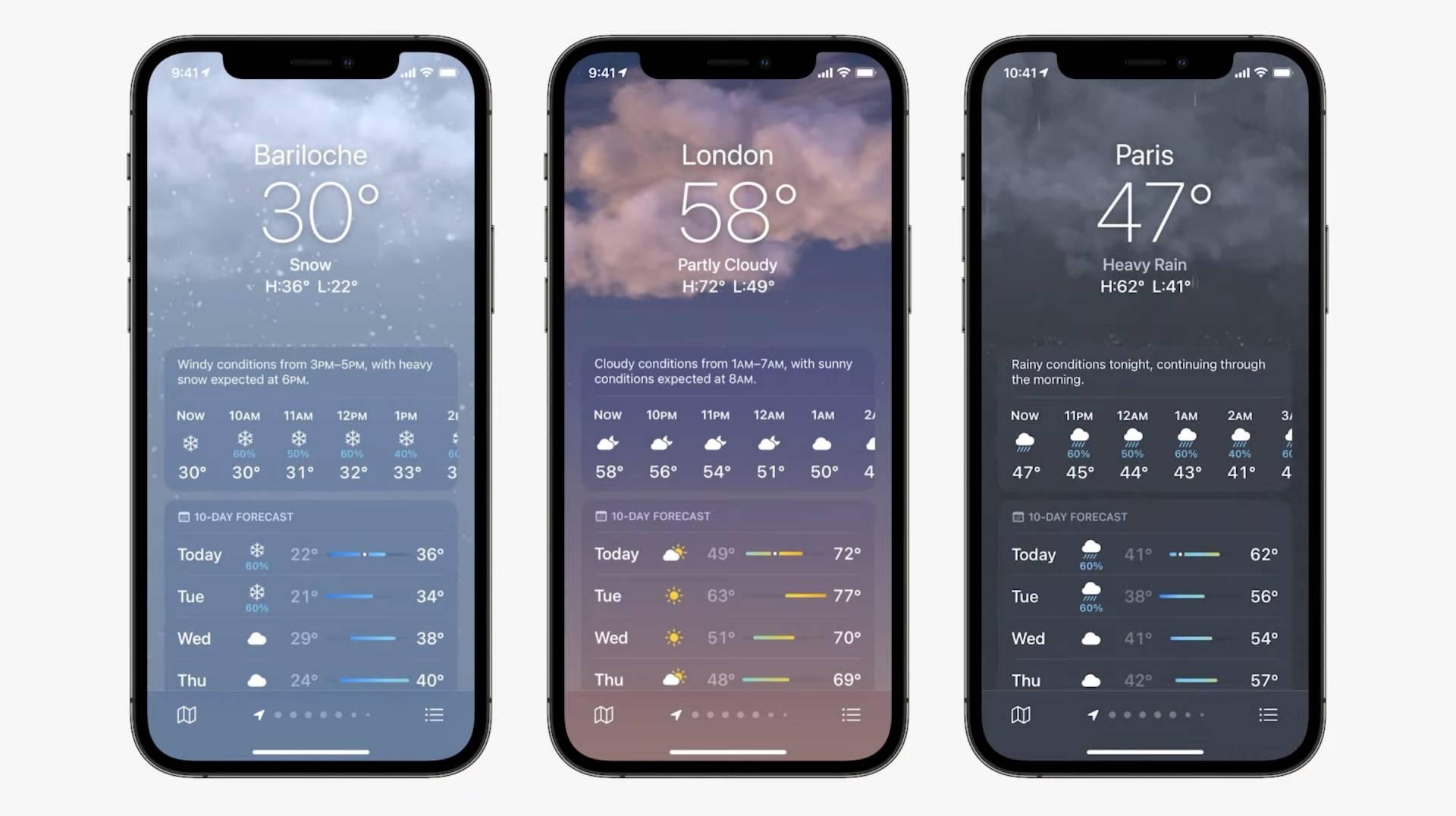 Novinky v aplikácii Počasie iOS 15 - WWDC 2021