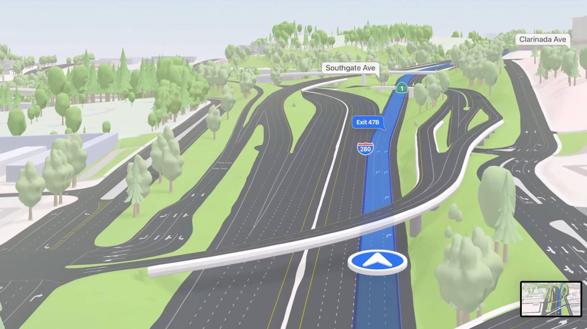 Novinky v Apple Maps - 3D mosty a križovatky pre lepšiu predstavu o trase - WWDC 2021