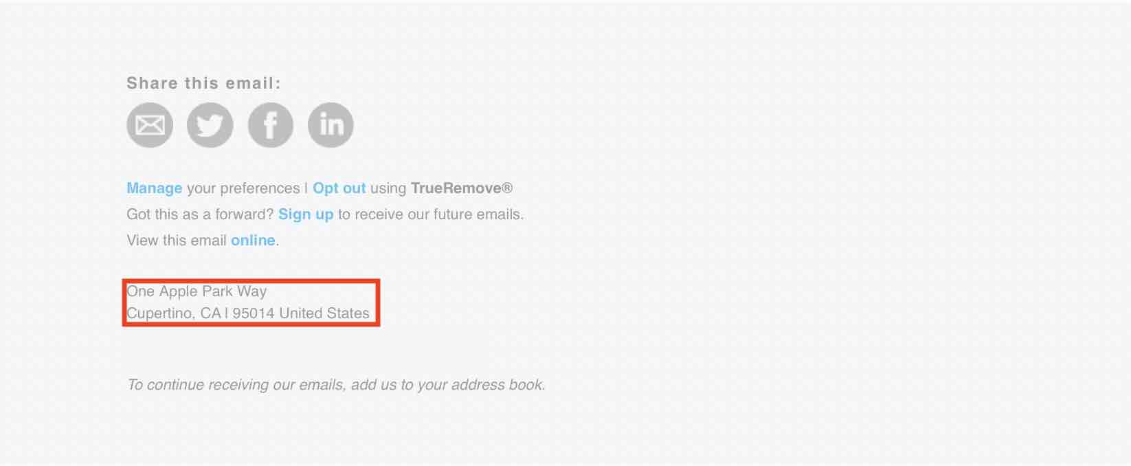 Apple podovd e-mail
